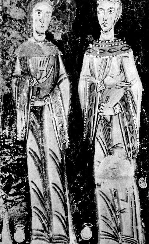 ef05dc2e0d7c 115. Сумасбродные девушки. Фреска из костела в Педрете, 1-я половина XII