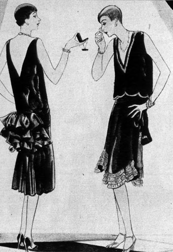 Поисковик ответил бы Вам, что имеется в виду ретро-платье 20-30-х годов.