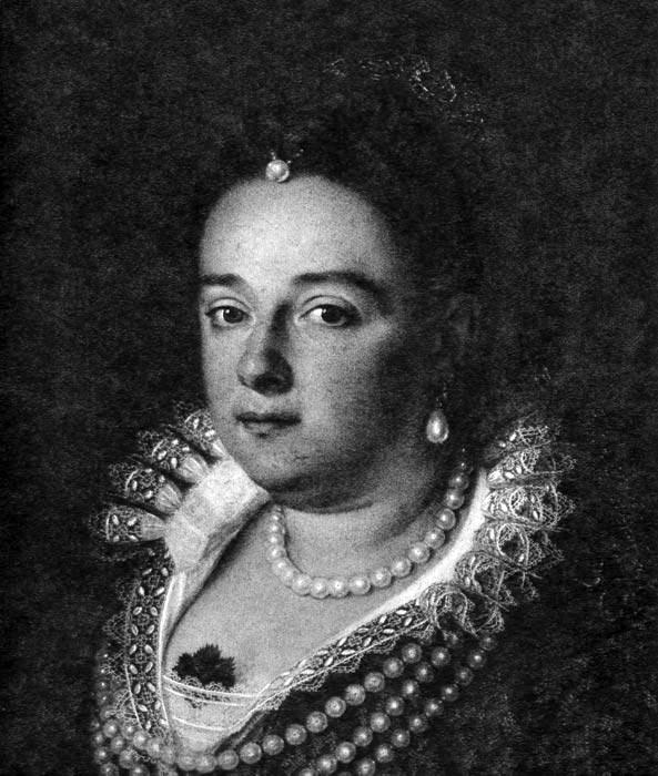 Ювелирные украшения дамы эпохи барокко состоят из жемчужного ожерелья...